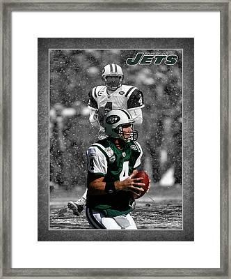 Brett Favre Jets Framed Print by Joe Hamilton