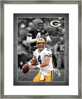 Brett Favre Packers Framed Print by Joe Hamilton