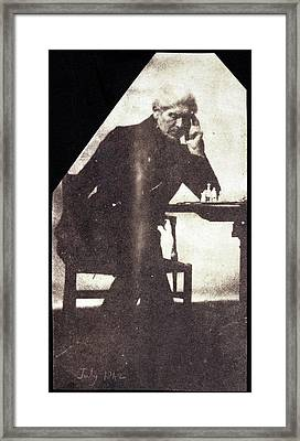 Brewster On Chess Framed Print by British Library