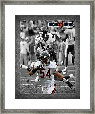 Brian Urlacher Bears Framed Print by Joe Hamilton