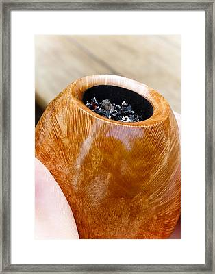 Briar Pipe Bowl Framed Print by Frank Tschakert