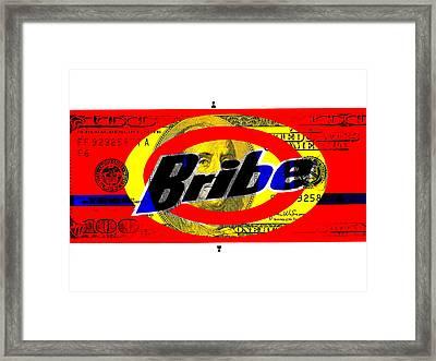 Bribes ... Money Talks  Framed Print by Funkpix Photo Hunter