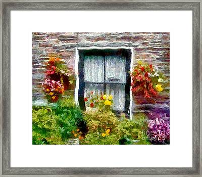 Brick And Blooms Framed Print by RC DeWinter