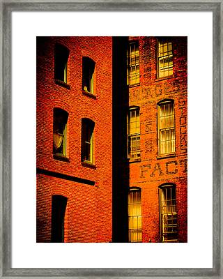 Brick And Glass Framed Print by Matthew Blum