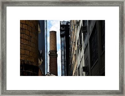 Brick Chimneys And Building New York City Framed Print by Diane Lent