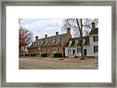 Brick House Tavern In Williamsburg Framed Print by Olivier Le Queinec