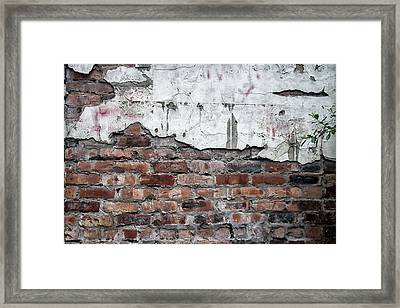 Brick Wall Abstract Framed Print by Georgia Fowler