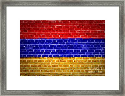 Brick Wall Armenia Framed Print by Antony McAulay