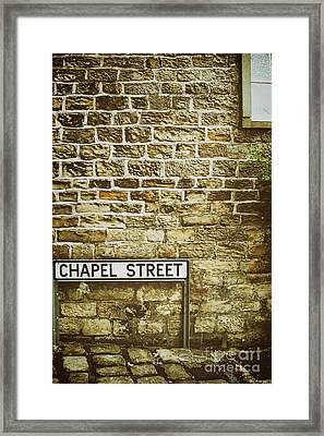 Brick Wall Framed Print by Amanda And Christopher Elwell