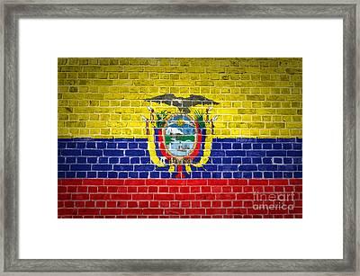 Brick Wall Ecuador Framed Print by Antony McAulay