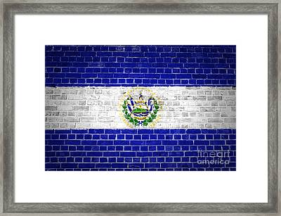 Brick Wall El Salvador Framed Print by Antony McAulay