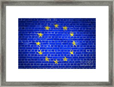 Brick Wall European Union Framed Print by Antony McAulay