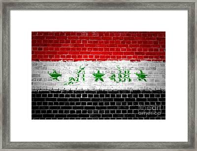 Brick Wall Iraq Framed Print by Antony McAulay