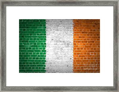 Brick Wall Ireland Framed Print by Antony McAulay
