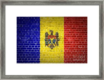Brick Wall Moldova Framed Print by Antony McAulay