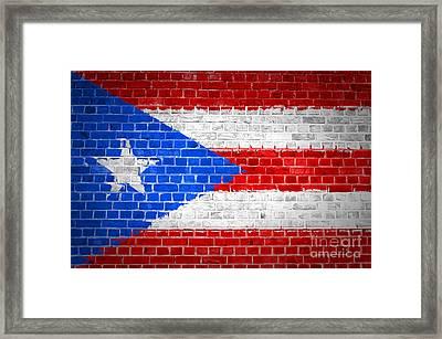 Brick Wall Puerto Rico Framed Print by Antony McAulay