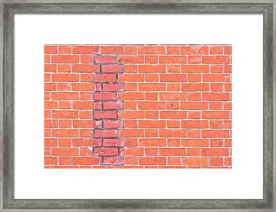 Brick Wall Repair Framed Print by Tom Gowanlock