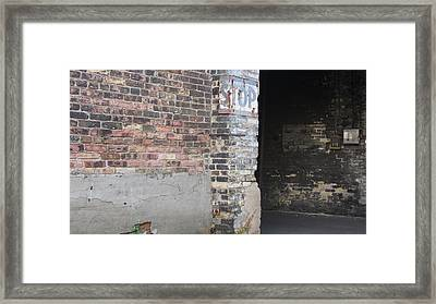 Brick Wall Stop Sign Framed Print by Anita Burgermeister