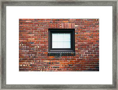 Brick Wall With Window Framed Print by Nathan Griffith