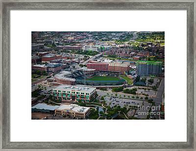 Bricktown Ballpark Framed Print by Cooper Ross