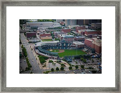 Bricktown Ballpark D Framed Print by Cooper Ross