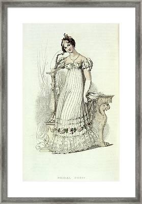Bridal Dress Framed Print by British Library