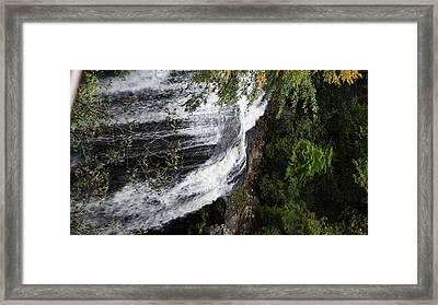 Bridal Falls Nantahala National Forrest Framed Print by Rosemarie E Seppala