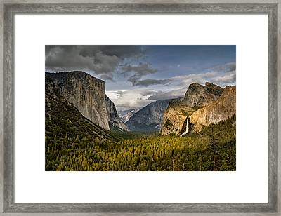 Bridal Vail Fall In The Spotlight Framed Print by Eduard Moldoveanu