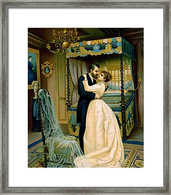 Bride And Bridegroom Framed Print by French School