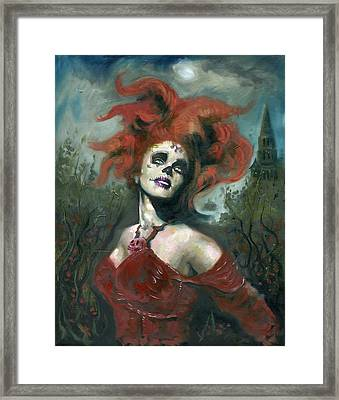 Bride Of The Dead Framed Print by Luis  Navarro