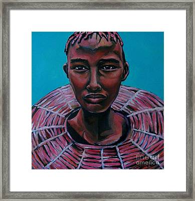 Bride - Portrait African Framed Print by Grace Liberator