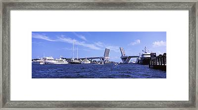 Bridge Across A Canal, Atlantic Framed Print by Panoramic Images