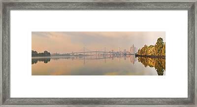 Bridge Across A River, Benjamin Framed Print by Panoramic Images