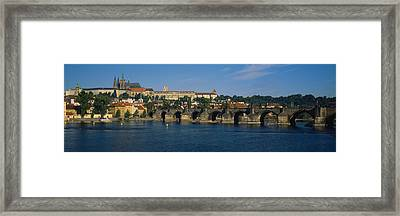 Bridge Across A River, Charles Bridge Framed Print by Panoramic Images