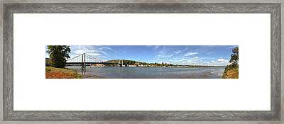 Bridge Across A River, Tain-lhermitage Framed Print by Panoramic Images