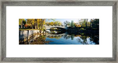 Bridge Across A River, Yahara River Framed Print by Panoramic Images