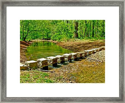 Bridge Across Colbert Creek At Mile 330 Of Natchez Trace Parkway-alabama Framed Print by Ruth Hager