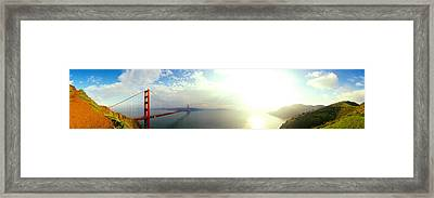 Bridge Across The Bay, Golden Gate Framed Print by Panoramic Images