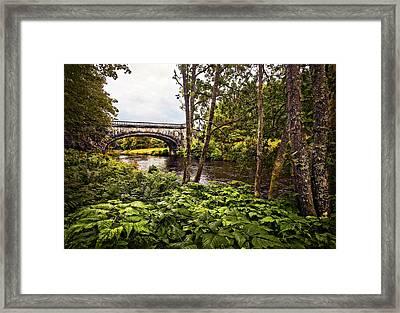 Bridge At Iveraray Castle Framed Print by Marcia Colelli