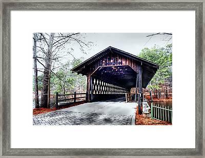 Bridge At Stone Mountain Framed Print by Debra Forand