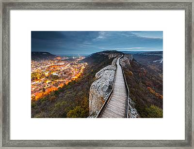 Bridge Between Epochs Framed Print by Evgeni Dinev
