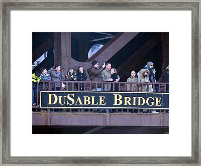 Bridge Cuddling  Framed Print by Wild Thing