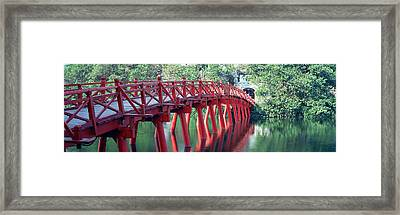 Bridge, Hoan Kiem Lake, Hanoi, Vietnam Framed Print by Panoramic Images