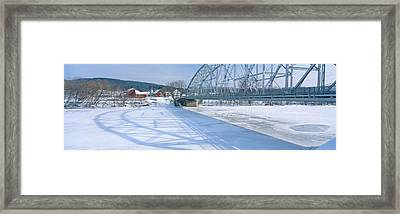 Bridge Into New Hampshire From Vermont Framed Print by Panoramic Images