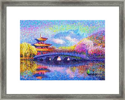 Bridge Of Dreams Framed Print by Jane Small