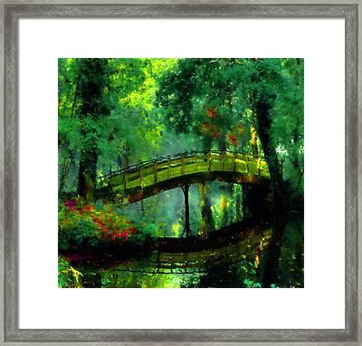 Bridge Of Dreams Framed Print by Georgiana Romanovna