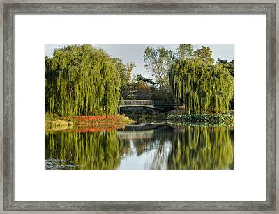 Bridge Of Reflection Framed Print by Leo Thomas Garcia