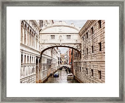 Bridge Of Sighs Framed Print by Susan Schmitz
