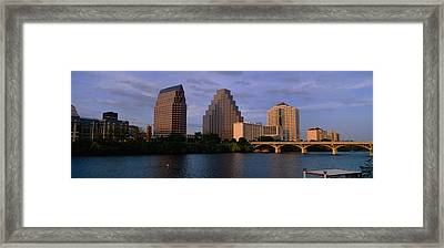 Bridge Over A River, Congress Avenue Framed Print by Panoramic Images