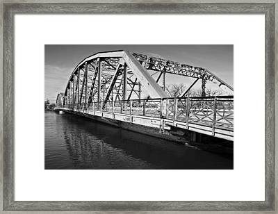 Bridge Over Flooding River Framed Print by Donald  Erickson